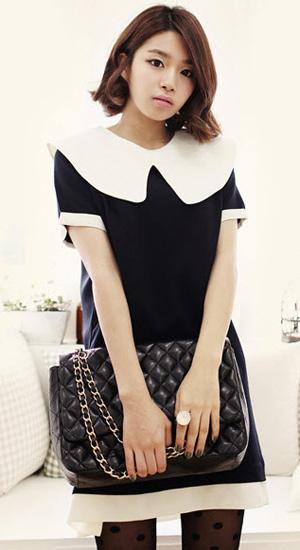 Mặc váy suông theo phong cách Hàn - 10