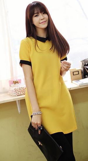 Mặc váy suông theo phong cách Hàn - 12