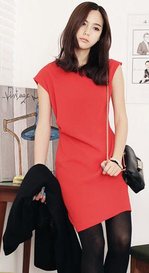 Mặc váy suông theo phong cách Hàn - 18