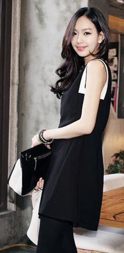 Mặc váy suông theo phong cách Hàn - 21