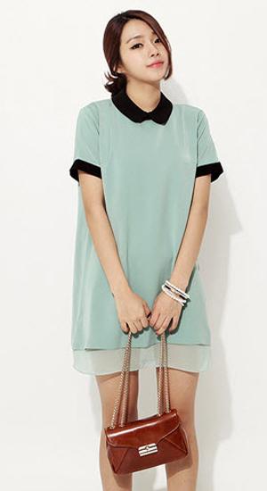Mặc váy suông theo phong cách Hàn - 24
