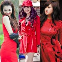 Tứ đại hot girl Việt rạng rỡ cùng sắc đỏ