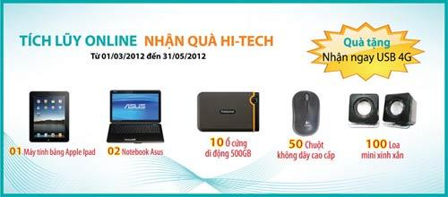 Tích lũy Online - nhận quà Hitech - 1