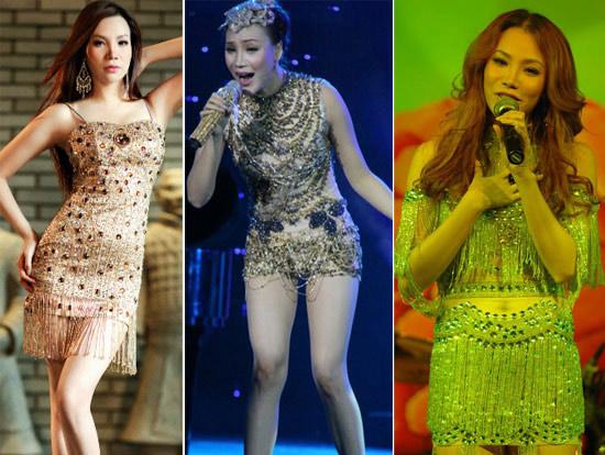 Sao Việt mặc váy đính đá... vô tội vạ - 6