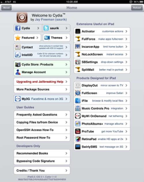 25 май 2012 Непривязанный джейлбрейк iOS 5.1.1 для нового iPad (iPad 3.