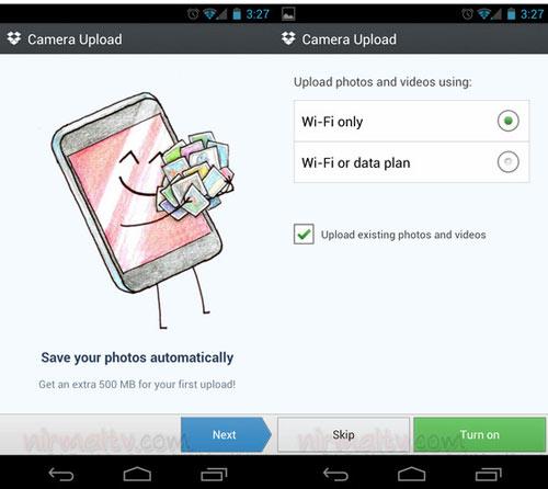 Tự động upload hình ảnh từ Camera trên Android đến Dropbox - 1