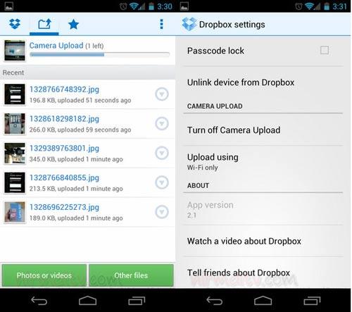Tự động upload hình ảnh từ Camera trên Android đến Dropbox - 2