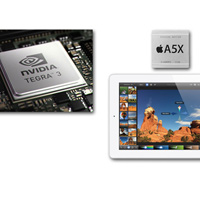 Chipset Apple A5X &quot;i u&quot; Nvidia Tegra 3