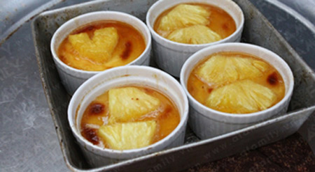 Bnh flan &quot;thanh&quot; hn vi v da chua, m thc, am thuc, banh flan, banh flan dua, mon ngon, mat ong, mon ngon de lam, bao