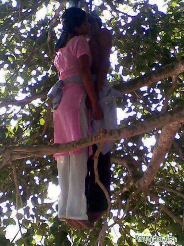 Tự tử trên cây trong tư thế... hôn nhau, Phi thường - kỳ quặc, chuyen la, chuyen la the gioi, chuyen la co that,Surender, Neelam, Vijay Vihar, Uttam Nagar, tu tu, hon nhau, tren cay, phi thuong ky quac