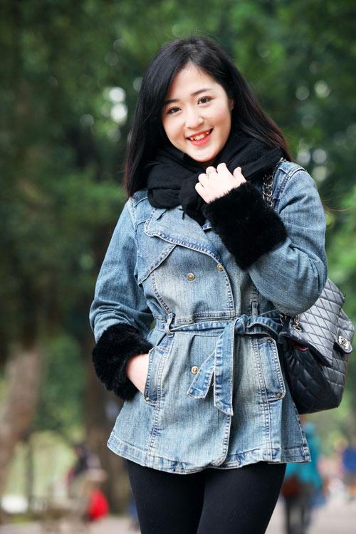 Mặc áo khoác jean sành điệu ngày lạnh - 5