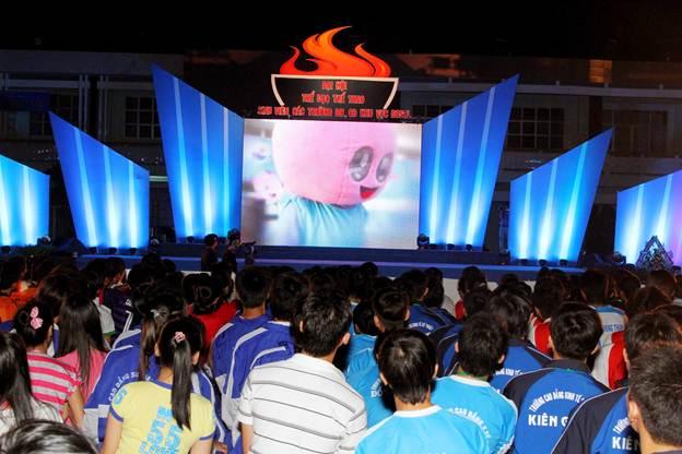 Lễ khai mạc ấn tượng tại ĐH TDTT sinh viên - 1
