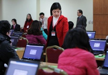 Hơn 300 thí sinh thi trực tuyến vào Bộ Nội vụ - 2