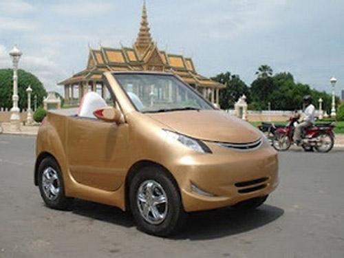 Campuchia trình làng chiếc xe hơi tự chế đầu tiên - 1