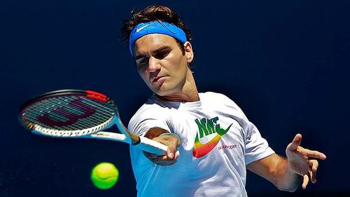 Cận cảnh Federer luyện tập ở Úc - 1