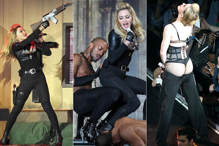 Trong mỗi chặng dừng chân của chuyến lưu diễn vòng quanh thế giới MDNA 2012 của mình, Madonna đều sử dụng chiêu trò gây chú ý