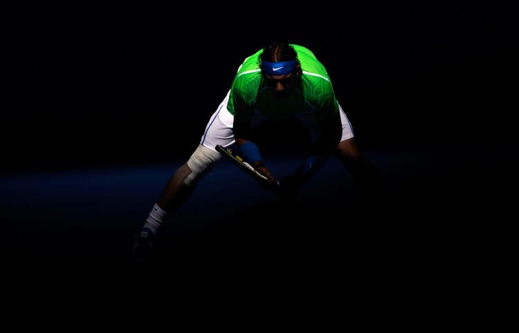Trông Nadal chẳng khác nào võ sĩ, muốn lao vào ăn tươi nuốt sống đối thủ.