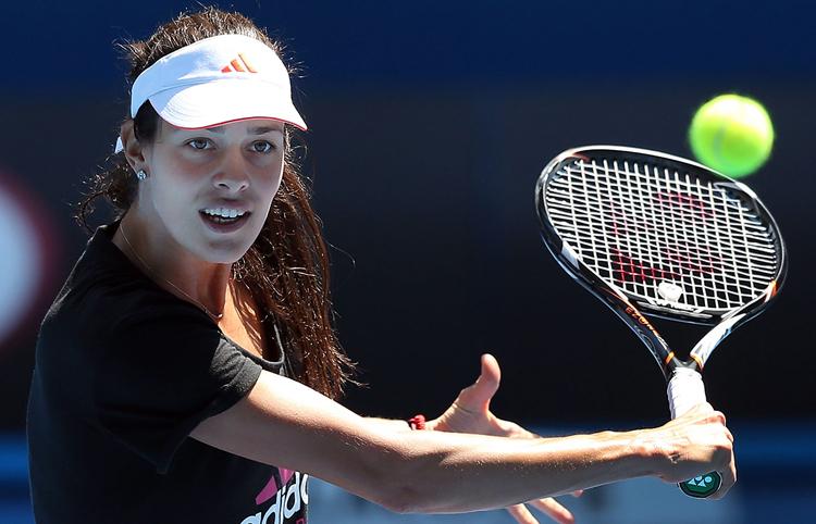 Ana Ivanovic tập luyện cật lực với hy vọng một lần giành được Grand Slam. Năm 2008, tay vợt người Serbia này từng lọt vào trận chung kết Australian Open nhưng lại thua Maria Sharapova.