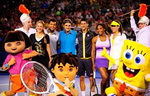 Australian Open: Djokovic&Serena nhảy ngựa - 1