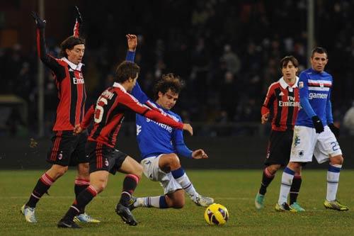 Sampdoria - Milan: Không thể phục hận - 1