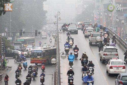 Hà Nội: Sương mù bao trùm thành phố - 6