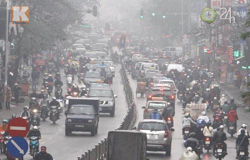 Hà Nội: Sương mù bao trùm thành phố - 3