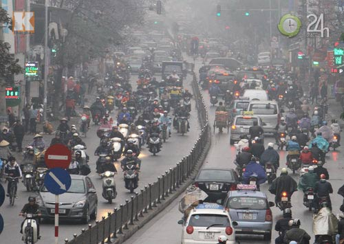 Hà Nội: Sương mù bao trùm thành phố - 5