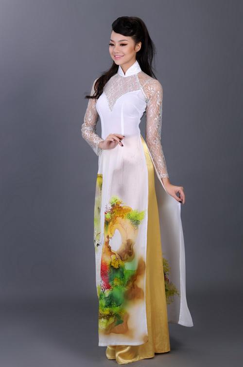 Kiều Ngân duyên dáng với áo dài - 2