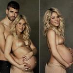 """Ca nhạc - MTV - Shakira bán nude khoe bụng bầu với """"phi công"""""""