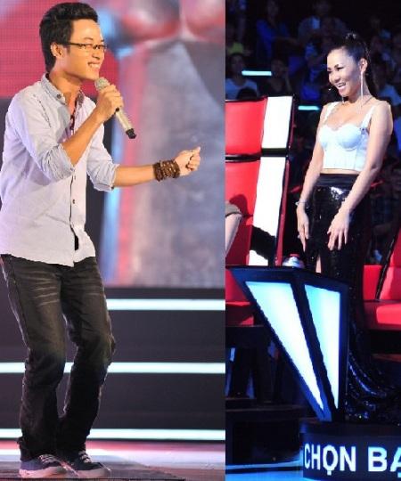 Thu Minh và chiêu hớt tay trên tại The Voice - 2