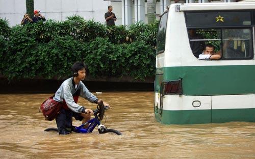 """Chùm ảnh: Lũ """"nhấn chìm"""" thủ đô Indonesia - 15"""