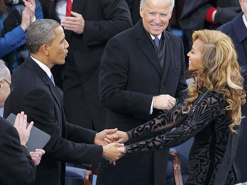 Beyonce hát nhép tại lễ nhậm chức của Obama - 1