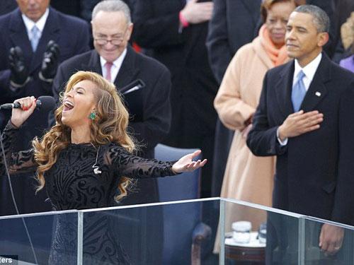 Beyonce hát nhép tại lễ nhậm chức của Obama - 2