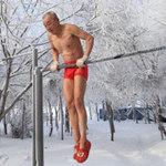 Phi thường - kỳ quặc - 77 tuổi mình trần luyện tập trong tuyết