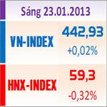 Sàn GD Hà Nội - TTCK sáng 23/1: Thanh khoản sụt giảm