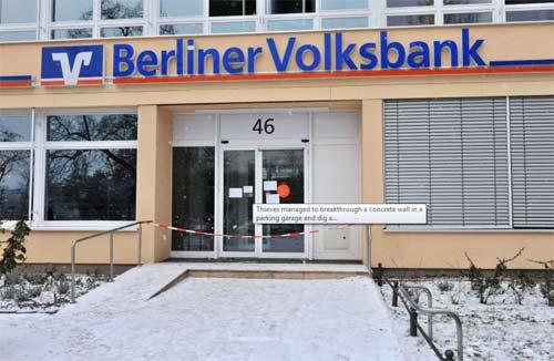 Đức: Đào hầm trộm ngân hàng như phim - 1