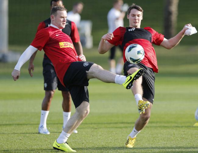 Trong buổi tập hôm thứ tư, Rooney bị cho là gặp chấn thương ở đùi trái.