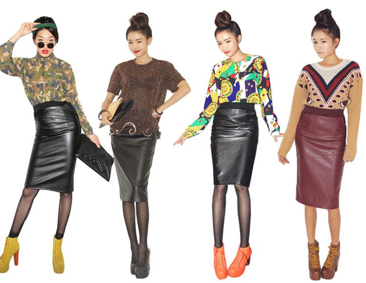 """""""Mix"""" nhiều phong cách với váy da - 2"""