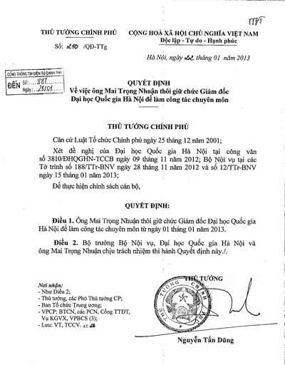 """Vụ GĐ thôi chức: ĐH Quốc gia HN """"phản pháo"""" - 2"""