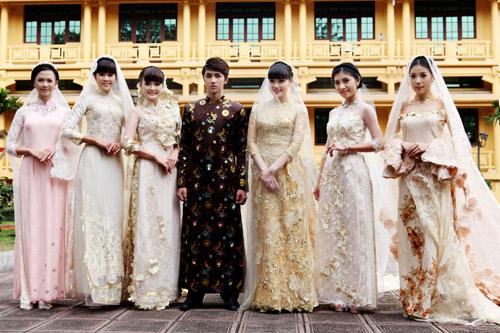 Chọn áo dài cưới cho cô dâu 2013 - 1