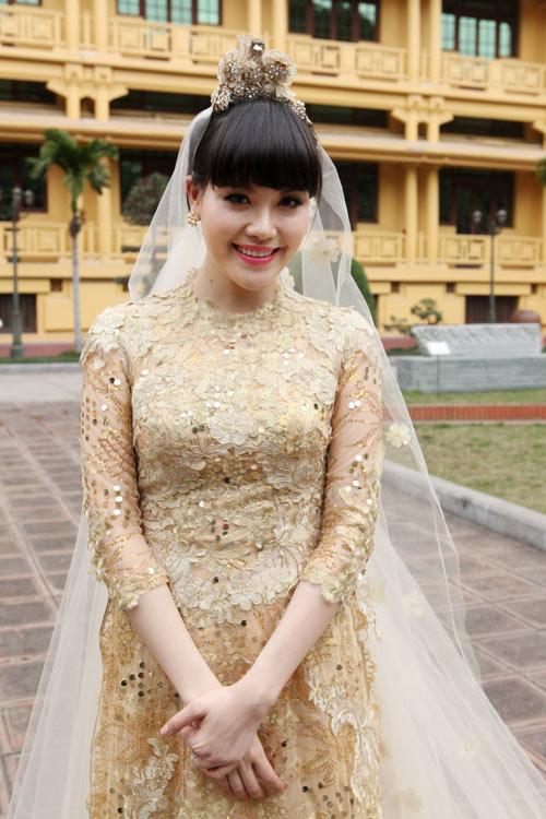 Chọn áo dài cưới cho cô dâu 2013 - 10
