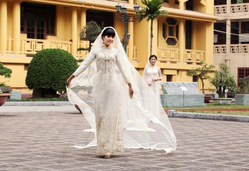 Chọn áo dài cưới cho cô dâu 2013 - 6