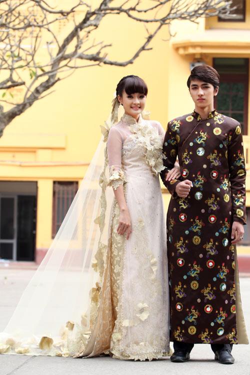 Chọn áo dài cưới cho cô dâu 2013 - 2
