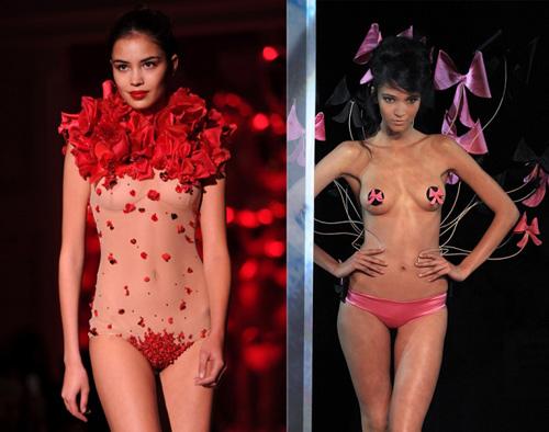 Những pha lộ ngực gây sốc trên catwalk - 6