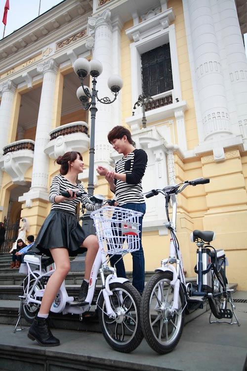 Xe đạp điện có thể đi 80 km tại Hà Nội - 5