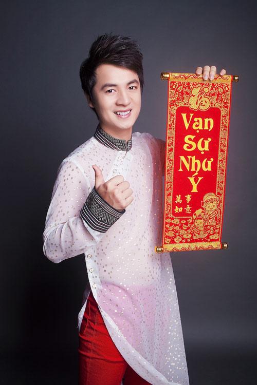 Đăng Khôi đủng đỉnh áo dài đón Tết - 5