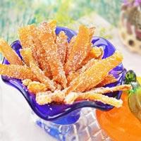 Làm mứt vỏ cam rất thơm và dễ