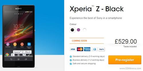 Sony Xperia Z có giá khủng - 1