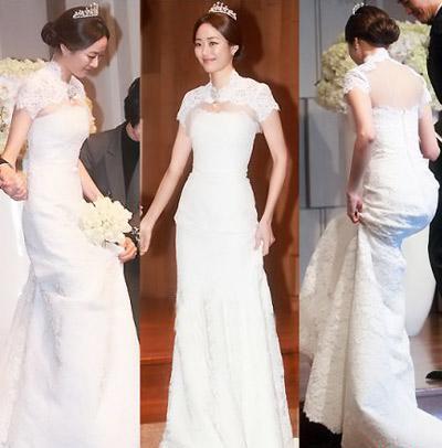 8 bộ đầm cưới đẹp mê ly của sao Hàn - 1