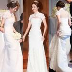 Thời trang - 8 bộ đầm cưới đẹp mê ly của sao Hàn
